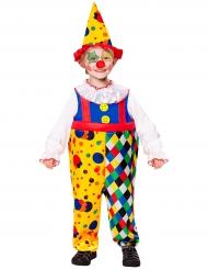 Costume mini clown giallo per bambino