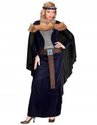 Costume principessa medievale donna con pelliccia