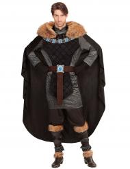 Costume principe nero medievale per uomo