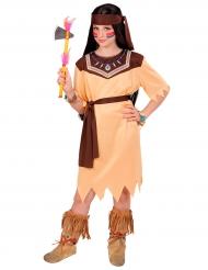 Costume da principessa di tribu indiana per bambina