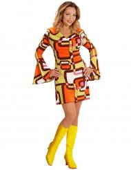 Costume disco geometrico anni 70 per donna