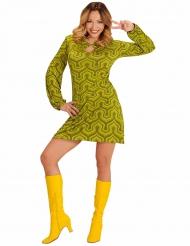 Costume disco verde anni 70 per donna