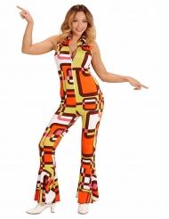 Costume groovy a tuta anni 70 per donna