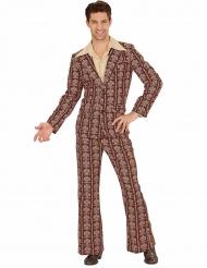 Costume groovy anni 70 marrone per uomo