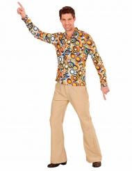 Camicia anni 70 a bolle per uomo