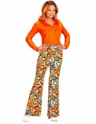 Pantalone groovy anni 70 per donna