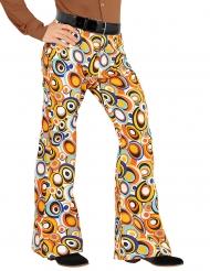 Pantalone disco anni 70 con bolle per uomo