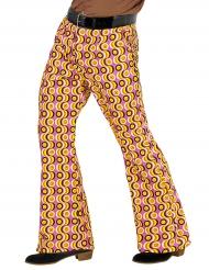 Pantalone anni 70 psicadelico per uomo