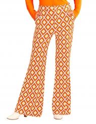 Pantalone anni 70 rombi per donna