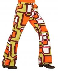 Pantalone disco anni 70 geometrico per uomo
