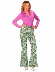 Pantalone Disco anni 70 con onde per donna