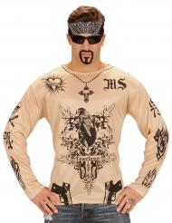 Maglietta con tatuaggi per adulto