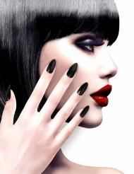 Image of Unghie finte adesive nere per adulto