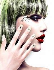 Finte unghie bianche con ragni