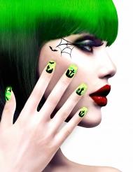 Kit finte unghie autoadesive disegni cimitero Adulti per Halloween