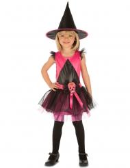 Costume da strega rosa per bambina dia de los muertos