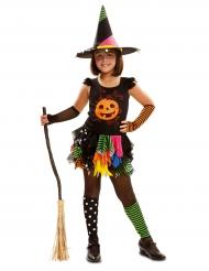Costume da zucca strega per bambina