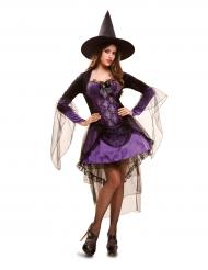 Costume da strega viola per donna