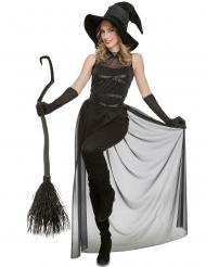 Costume da strega con pantaloni per donna