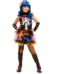 Costume da scheletro arcobaleno per bambina