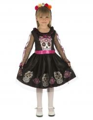 Costume fanciulla dei teschi per bambina dia de los muertos