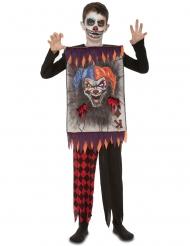 Costume carta da gioco clown terrificante bambino