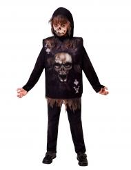 Costume carta da gioco scheletro per bambino halloween