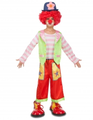 Costume da Clown multicolore per bambino