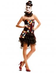 Costume da clown arlecchino per donna