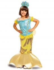 Costume da sirena dorata per bambina