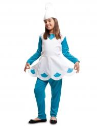 Costume da gnomo azzurro per bambina