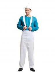 Costume da elfo blu per uomo
