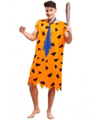 Costume preistorico arancione per uomo