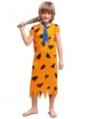 Costume ragazzo preistorico arancione per bambino