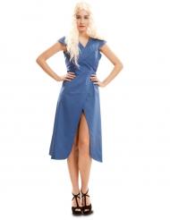 Costume blu Regina dei draghi per donna