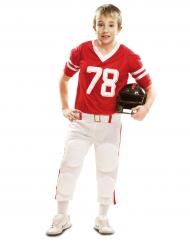 Costume da Giocatore di Football americano rosso per bambino