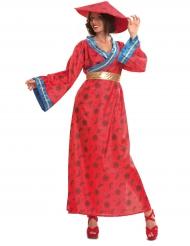 Costume da cinese in rosso per donna