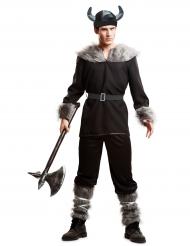 Costume da vichingo nero per uomo