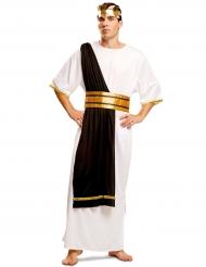 Costume da capo romano bianco e nero per uomo