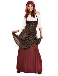 Costume da locandiera oste medievale per donna