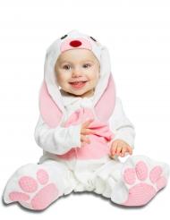 Costume da coniglietto rosa con ciuccio deluxe bebe