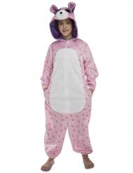 Costume orso rosa per bambina