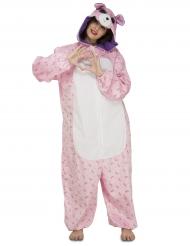 Costume da orsetto rosa per donna