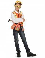 Costume da capo cantiere con accessori per bambino