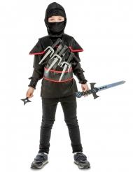 Costume da ninja nero bambino