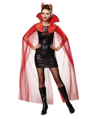 Mantello in tulle diavolessa donna Halloween