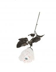Rosa bianca con occhio 40 cm halloween