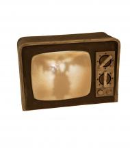 Decorazione luminosa e sonora vecchia TV halloween