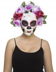 Maschera scheletro Dia de los Muertos pastello