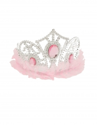 Diadema da principessa con tulle rosa